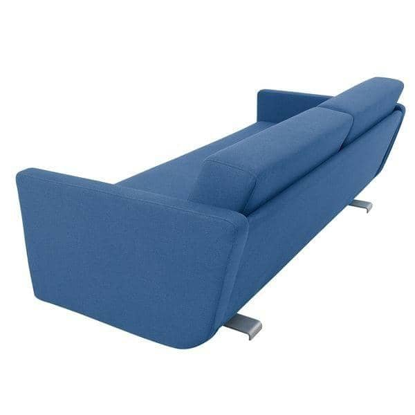 LOUNGE, sofa 3 places convertible, méridienne et pouf, tissus NORDIC