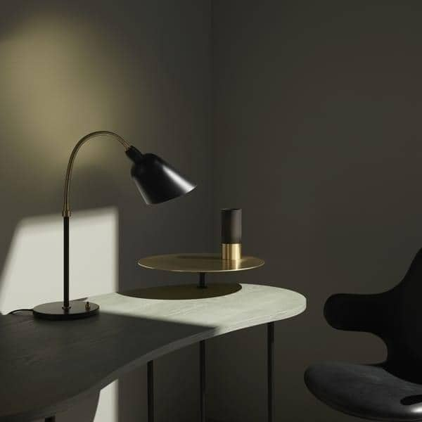 BELLEVUE collection (wall lamp, desk lamp and floor lamp), AND TRADITION